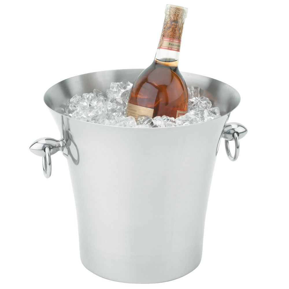vollrath  stainless steel fluted wine bucket with handles - main picture