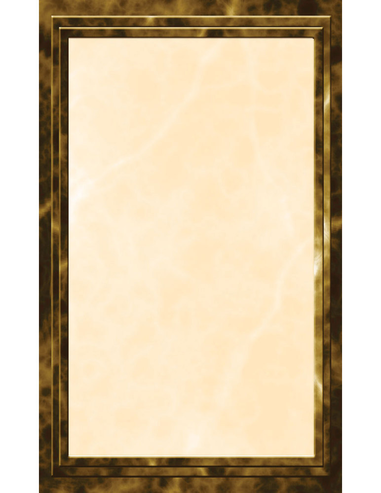 "8 1/2"" x 14"" Brown Menu Paper - Marble Border - 100/Pack"