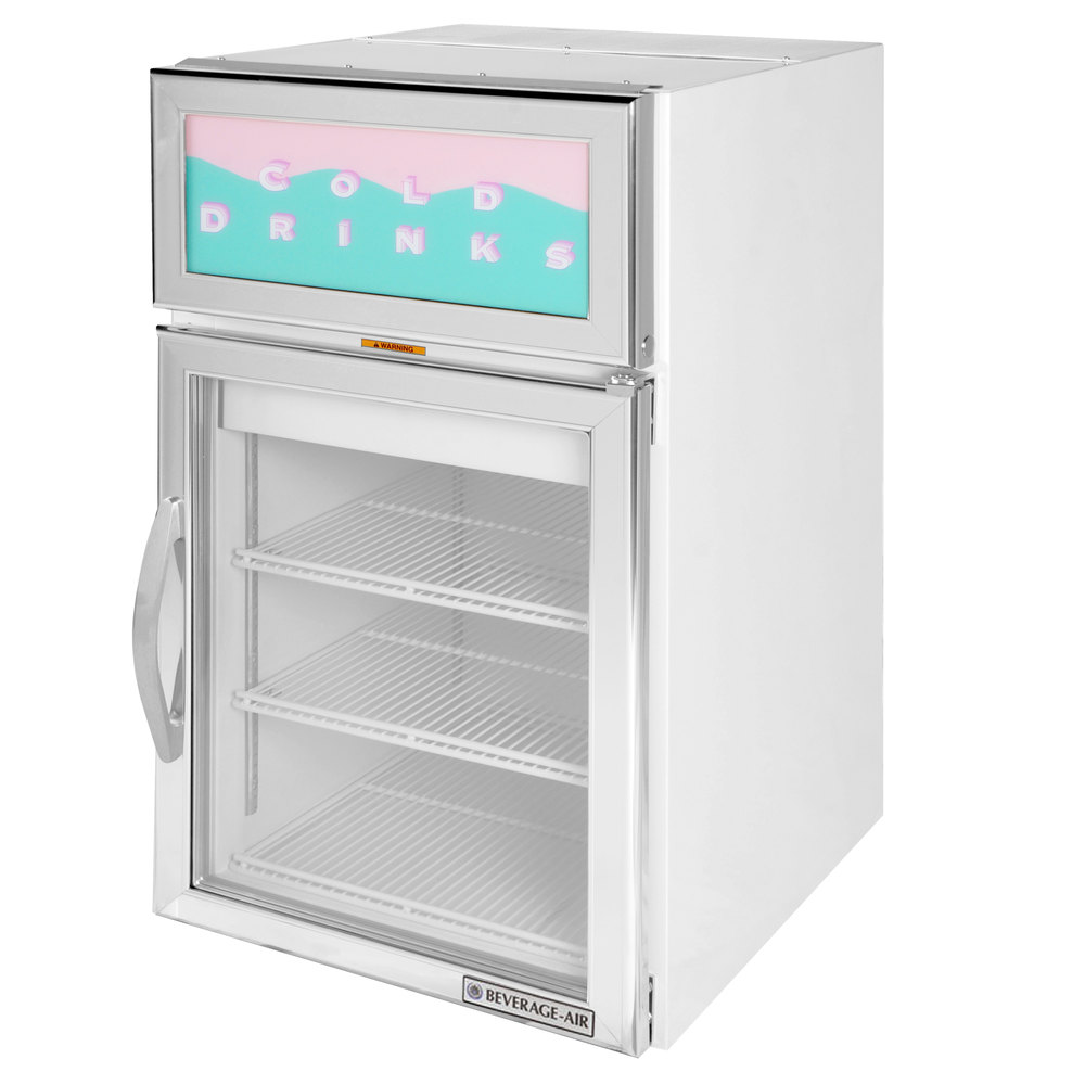 Countertop Refrigerator : Beverage-Air CR5-1W-G White Countertop Display Refrigerator with Swing ...