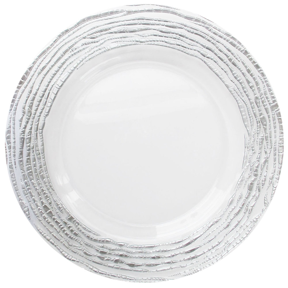 Clear Glass Charger Plate