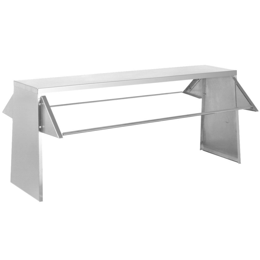 Eagle group bs2 ht4 stainless steel buffet shelf with 2 sneeze guards for 4 well food tables - Sneeze guard for steam table ...