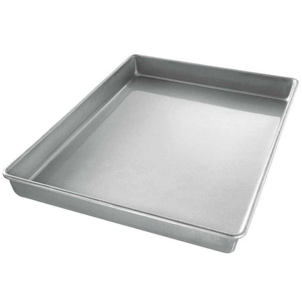 sheet cake pan chicago metallic 40237 26 quot x 17 quot 22 aluminized steel 7323