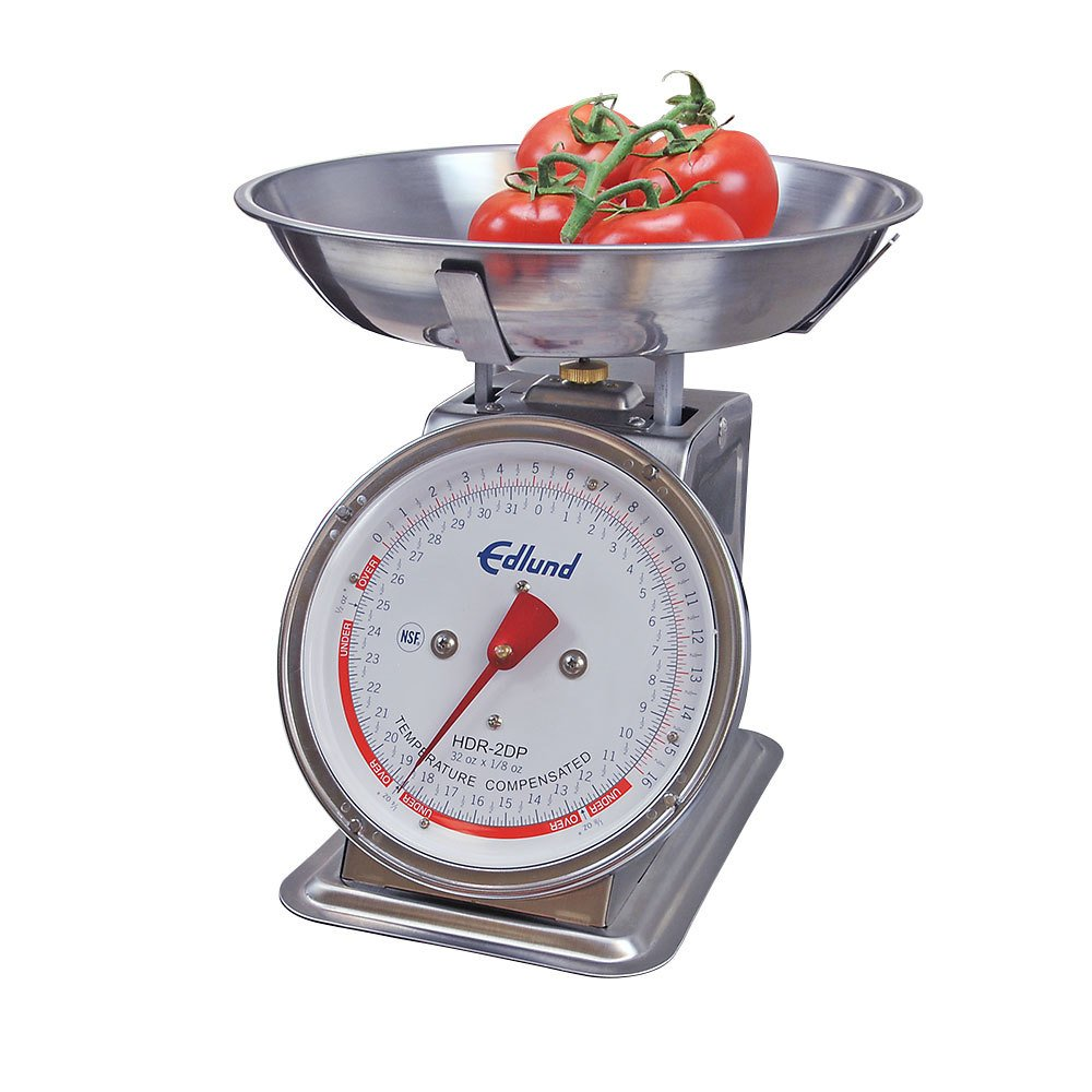 Edlund HDR-2DPB Stainless Steel 32 oz. Mechanical Portion Control Scale with Bowl at Sears.com