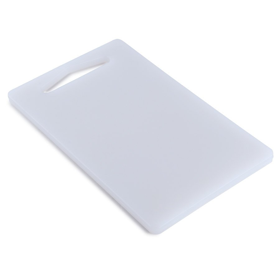 6 inch x 10 inch x 1/2 inch Poly White Cutting Board