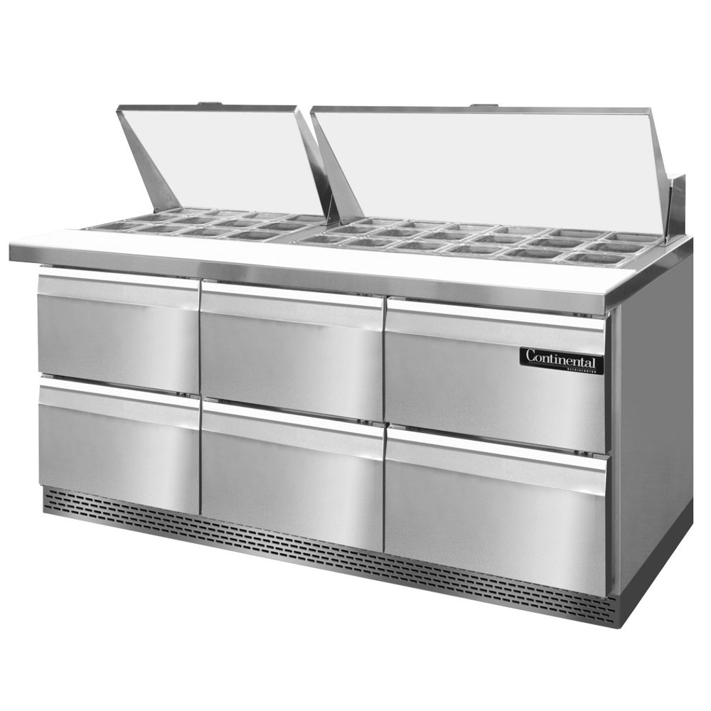 Continental Refrigerator Sw72 30m Fb D 72 Quot 6 Drawer Mighty