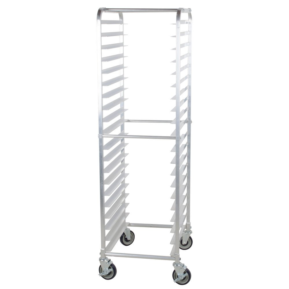 Regency 20 Pan End Load Bun / Sheet Pan Rack with Non-Marking Casters - Unassembled