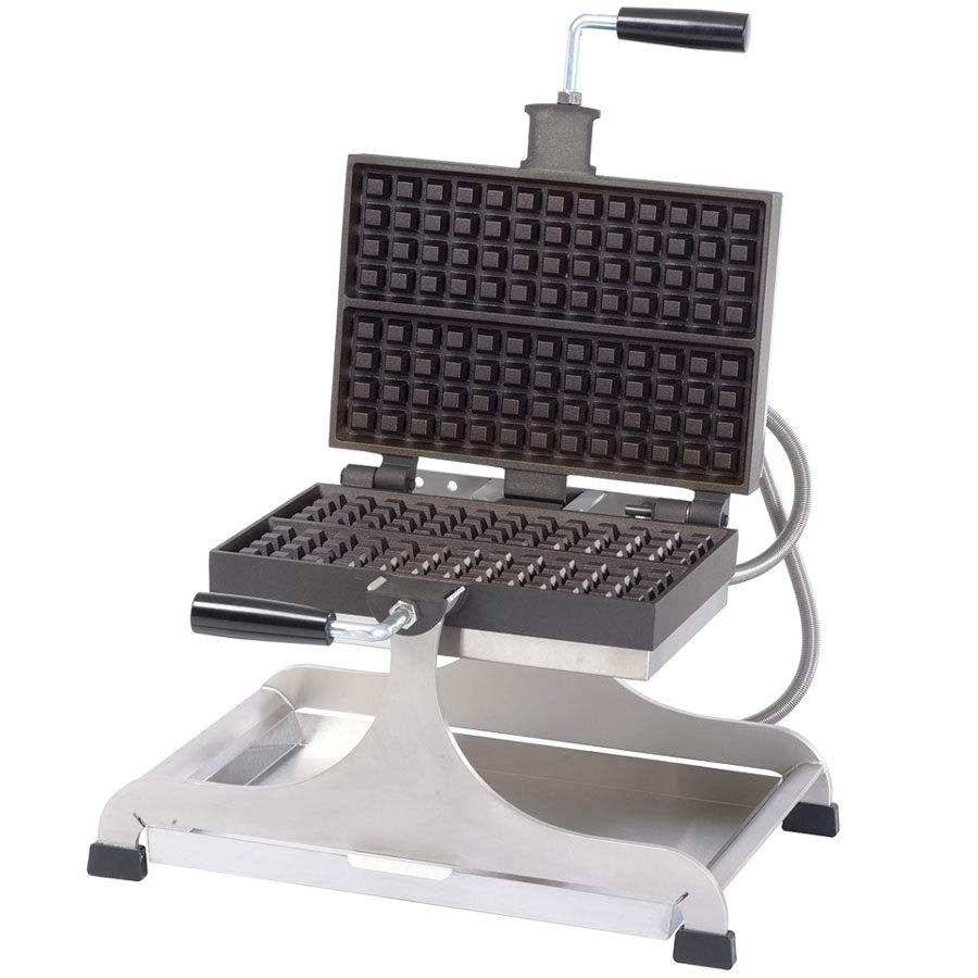 krampouz weccieat 4 inch x 13 inch liegestyle swivel belgian waffle maker 208