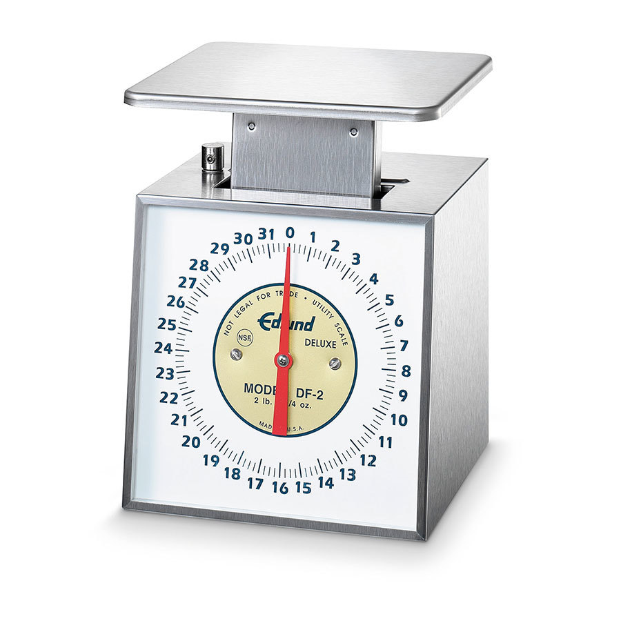 Edlund DF-2 Deluxe 32 oz. Portion Control Scale with 6 inch x 6 3/4 inch Platform