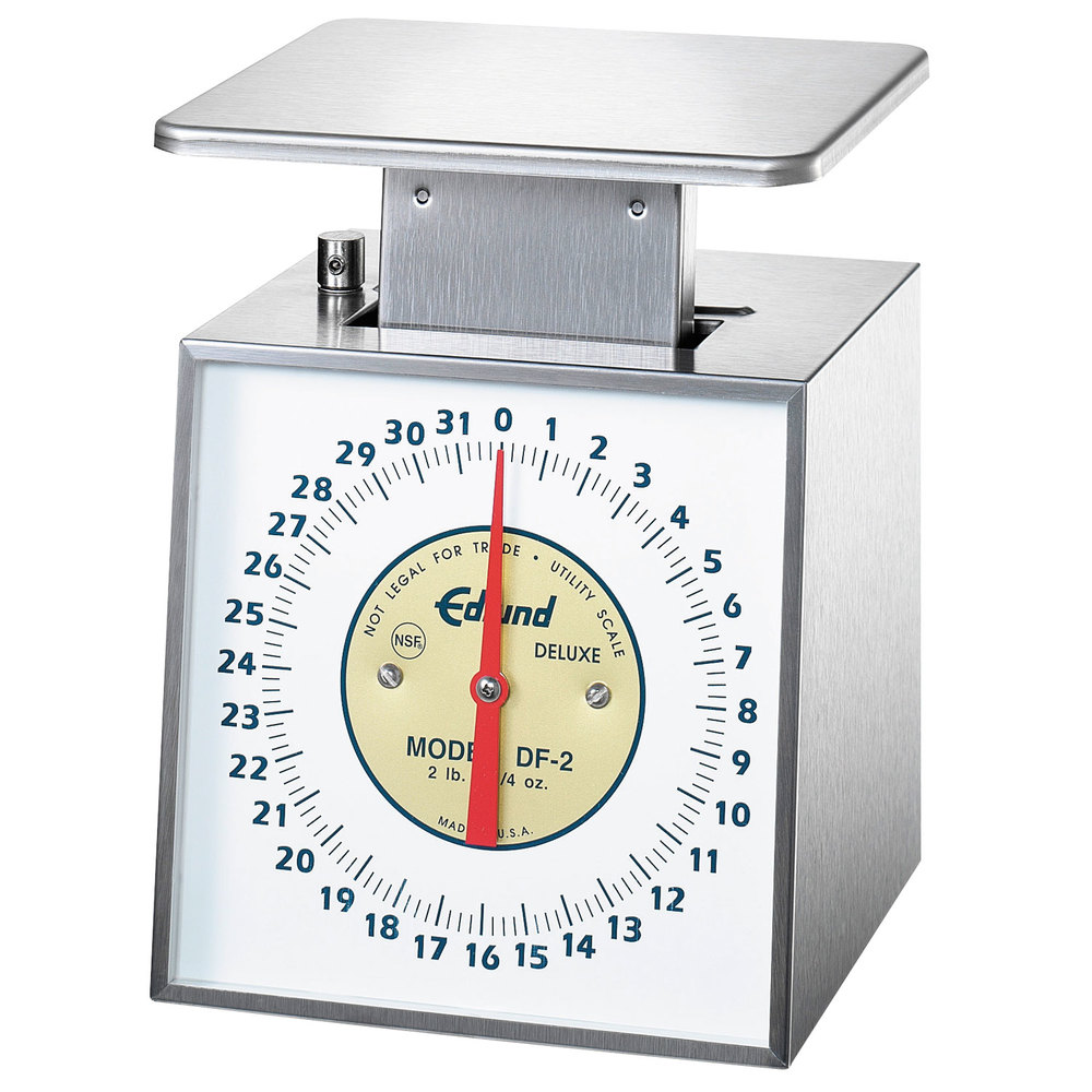 "Edlund DF-2 Deluxe 32 oz. Portion Scale with 6"" x 6 3/4"" Platform"
