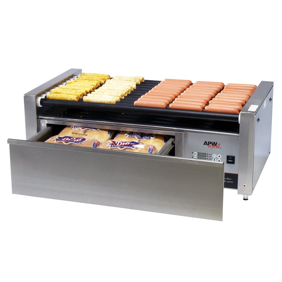 """APW Wyott HRS-50 Non-Stick Hot Dog Roller Grill 30 1/2""""- Flat Top 120V at Sears.com"""