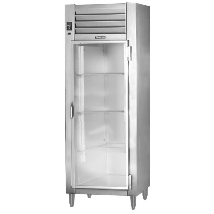 Traulsen AHT132NUT-FHG 21.9 Cu. Ft. One Section Narrow Glass Door Reach In Refrigerator - Specification Line