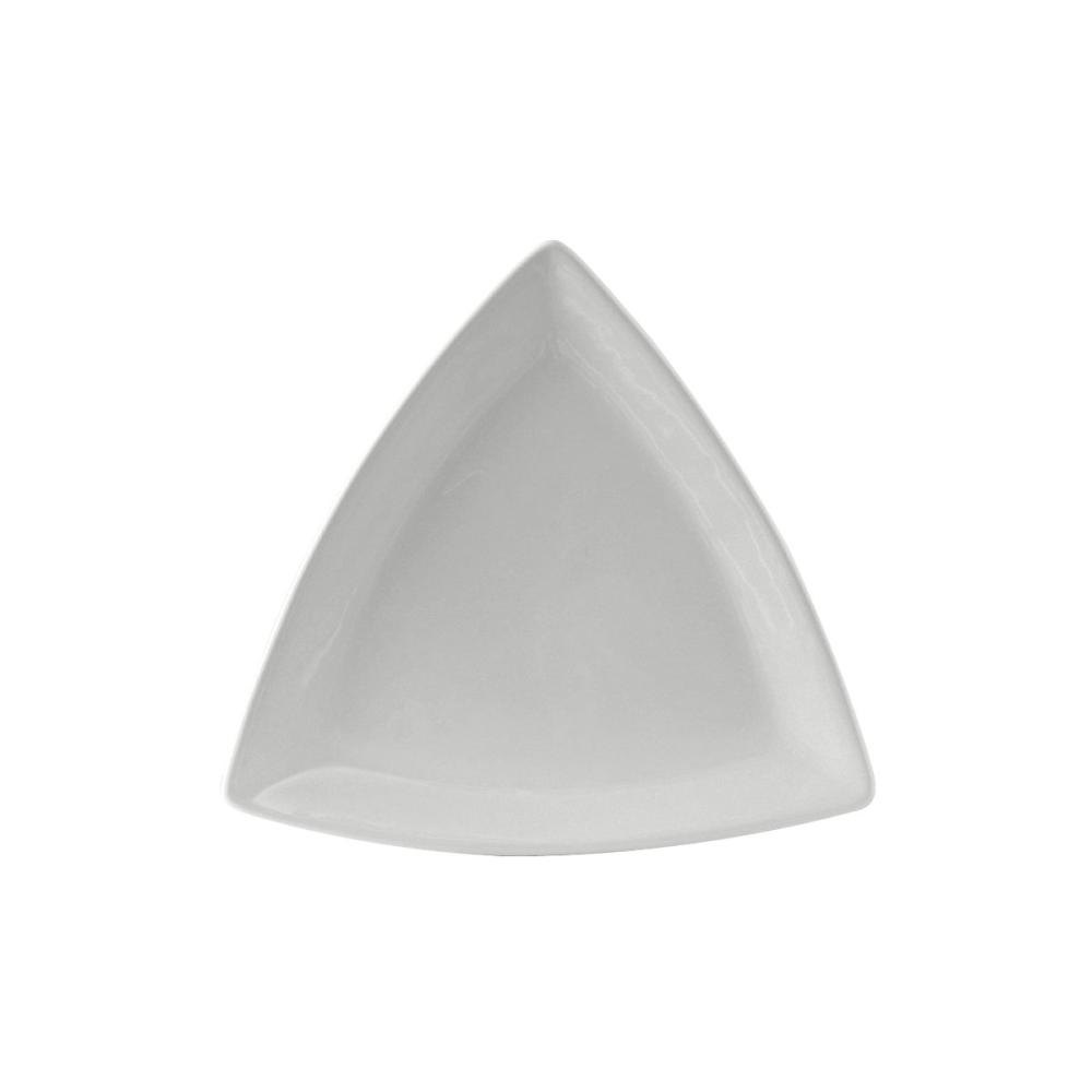 "Tuxton BWZ-1108 DuraTux 11"" White Triangle China Plate - 12/Case"