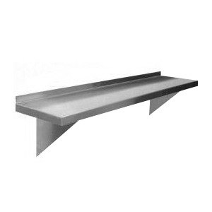 Regency 16 Gauge Stainless Steel 12 inch x 48 inch Heavy Duty Solid Wall Shelf