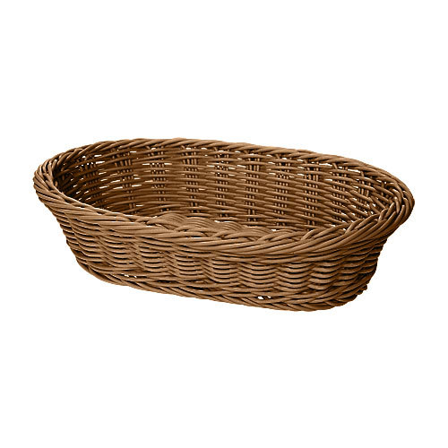 "GET WB-1505-H 11 3/4"" x 8"" x 3"" Designer Polyweave Honey Oval Basket - 12/Case"