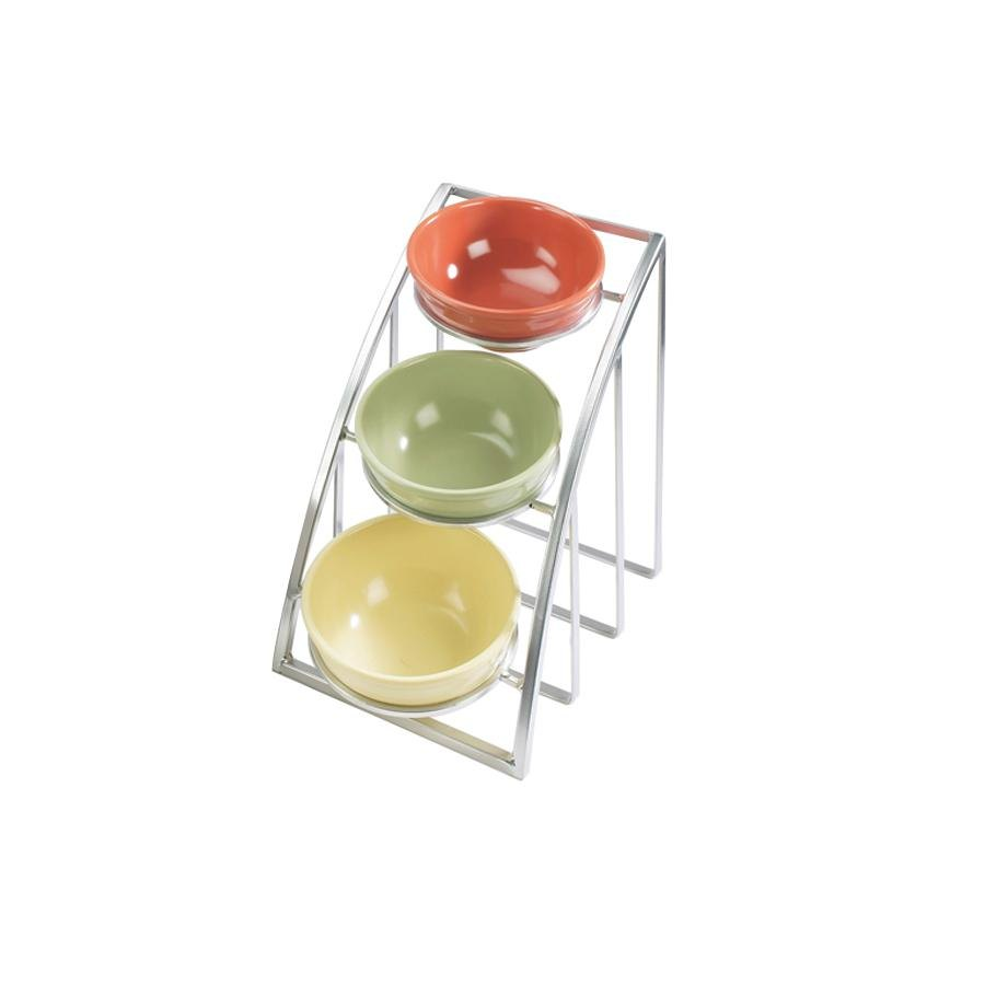 Cal Mil 1712-10-39 Mission 10 inch Round Bowl Display Stand - Silver