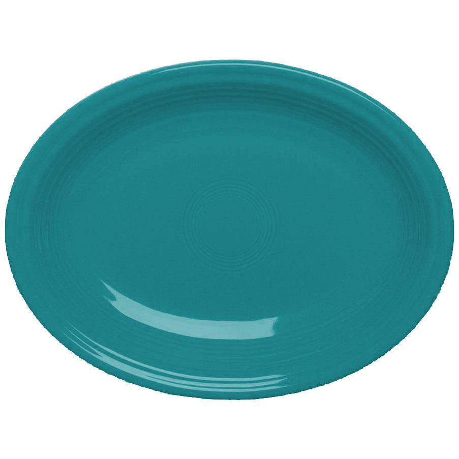 "Homer Laughlin 456107 Fiesta Turquoise 9 5/8"" Platter - 12 / Case"