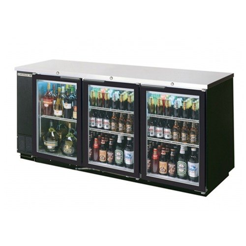 "Beverage Air (Bev Air) BB78G-1-B 79"" Back Bar Refrigerator with 3 Glass Doors 115V at Sears.com"