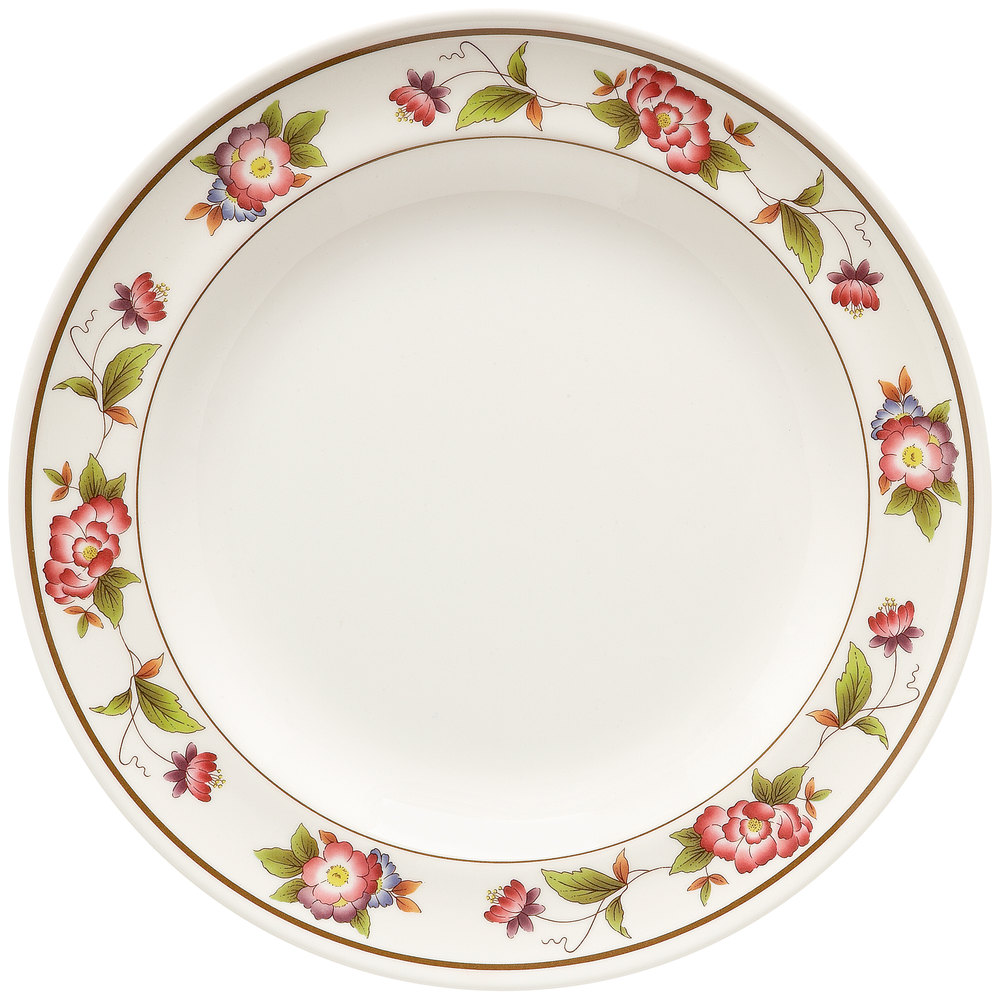 "GET KT-415-TR Tea Rose 12"" Round Plate - 12 / Pack"