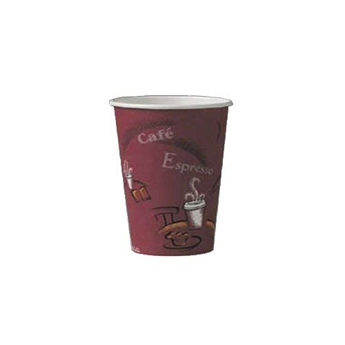 Solo 370SI-0041 10 oz. Bistro Paper Hot Cup 1000 / Case