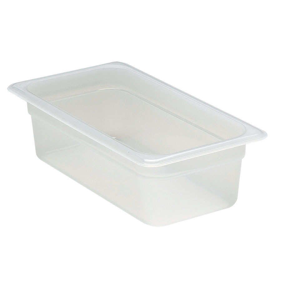 Cambro 34PP 1/3 Size 4 inch Deep Translucent Food Pan - 3.8 qt