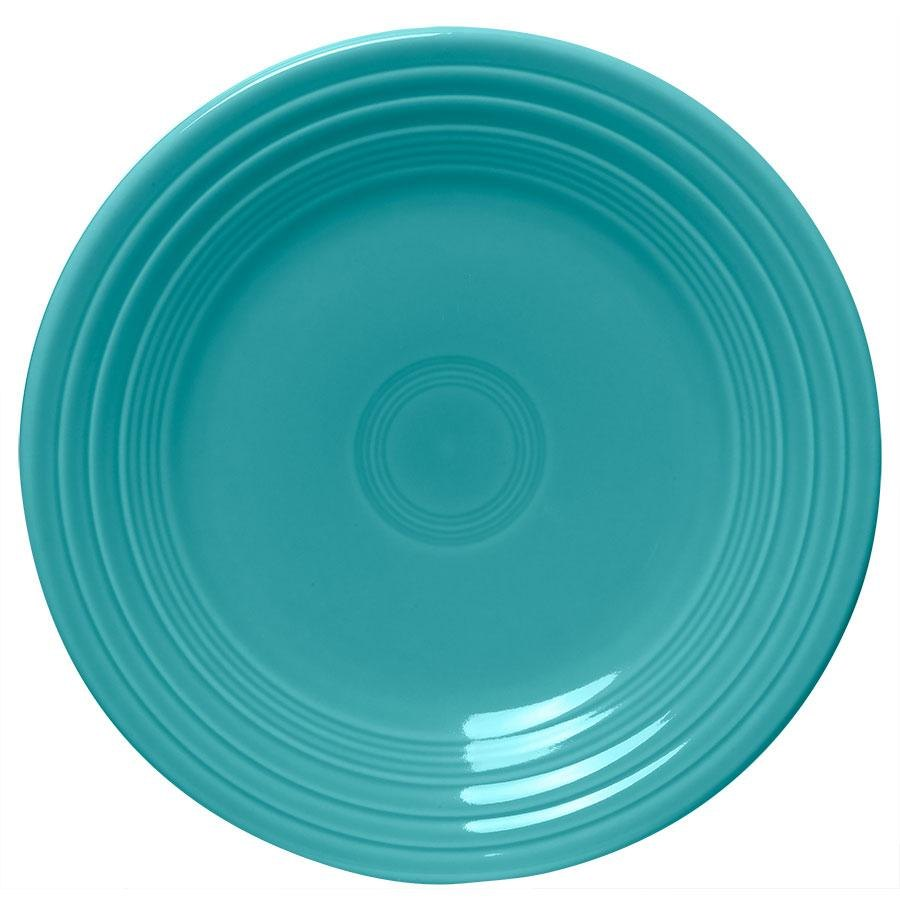 "Homer Laughlin 465107 Fiesta Turquoise 9"" Luncheon Plate - 12/Case"