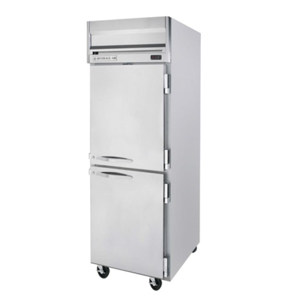Beverage Air HFP1-1HS 1 Section Solid Half Door Reach-In Freezer - 24 cu. ft., Stainless Steel Exterior