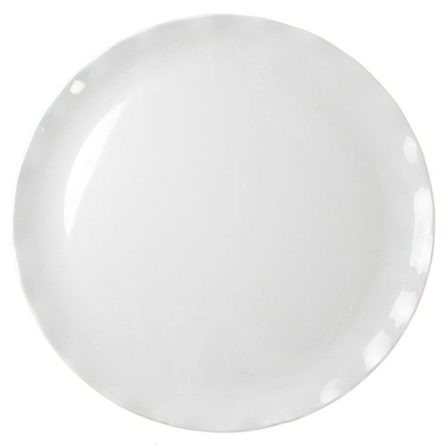 "Black Pearl White Plate - 18"" 2/ Pack"