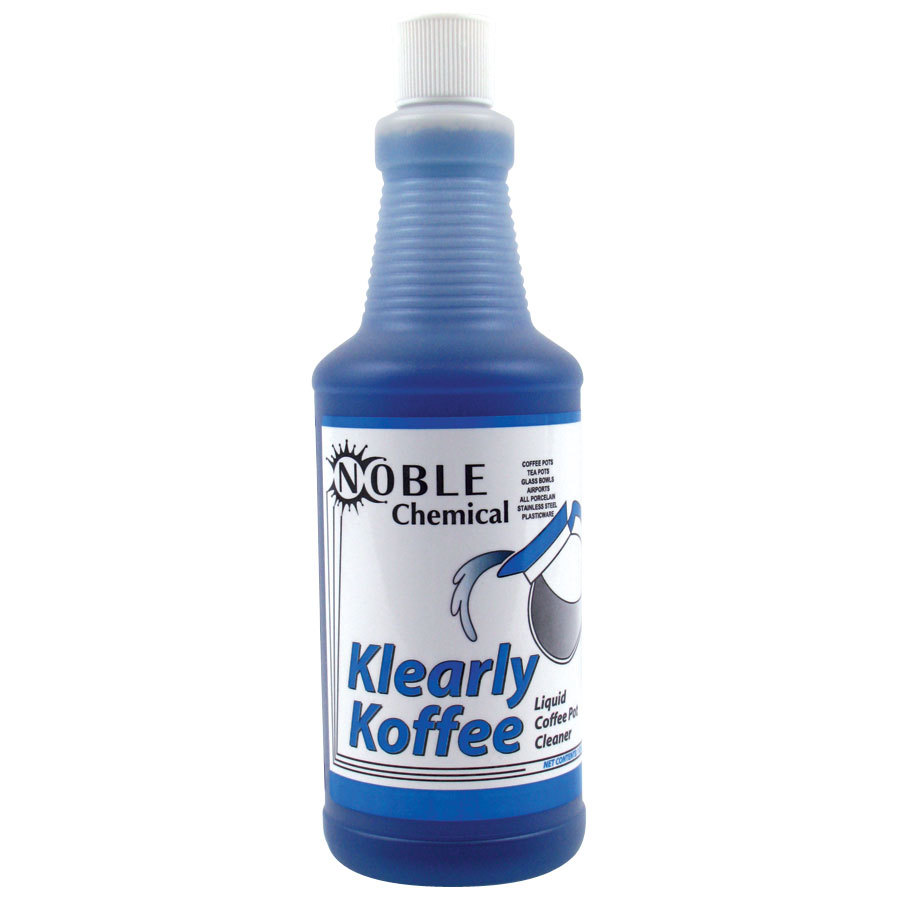Noble Chemical Klearly Koffee Liquid Coffee Pot Cleaner 32 oz. Bottle