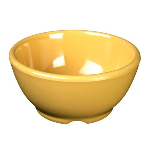 "Yellow 10 oz. Melamine Soup Bowl, 4 5/8"" - 12/Case"