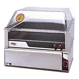"""APW Wyott HR-50BW 35"""" Hot Dog Roller Grill with Chrome Plated Rollers and Bun Warmer - 120V at Sears.com"""
