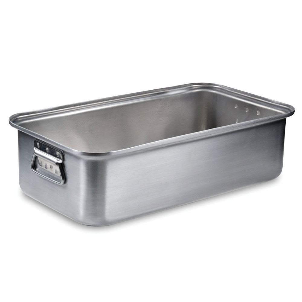 "Vollrath 68367 Wear-Ever 17.25 Qt. Aluminum Roast Pan with Handles (Bottom) - 20"" x 11 1/8"" x 5 1/2"""