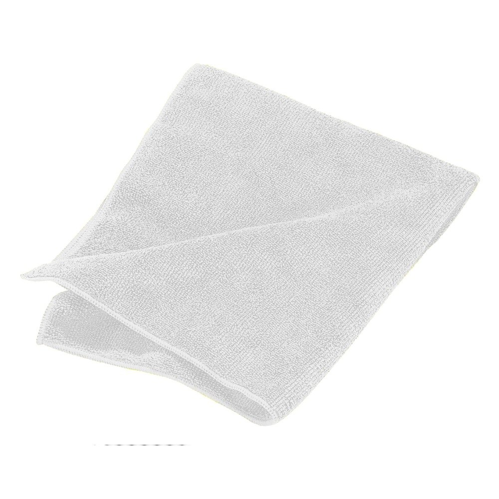 White Carlisle 3633402 16 inch x 16 inch Terry Microfiber Cleaning Cloth 12/Case