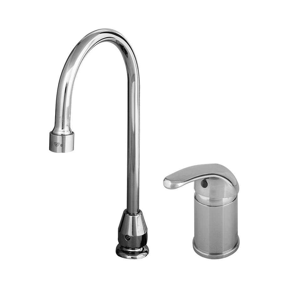 T S B 2742 A22 Deck Mount Single Lever Faucet With Remote On Off Control Base Swivel Gooseneck