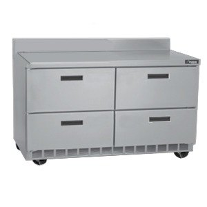 "Delfield STD4464N-8 64"" 4 Drawer Refrigerated Sandwich Prep Table with 4"" Backsplash"