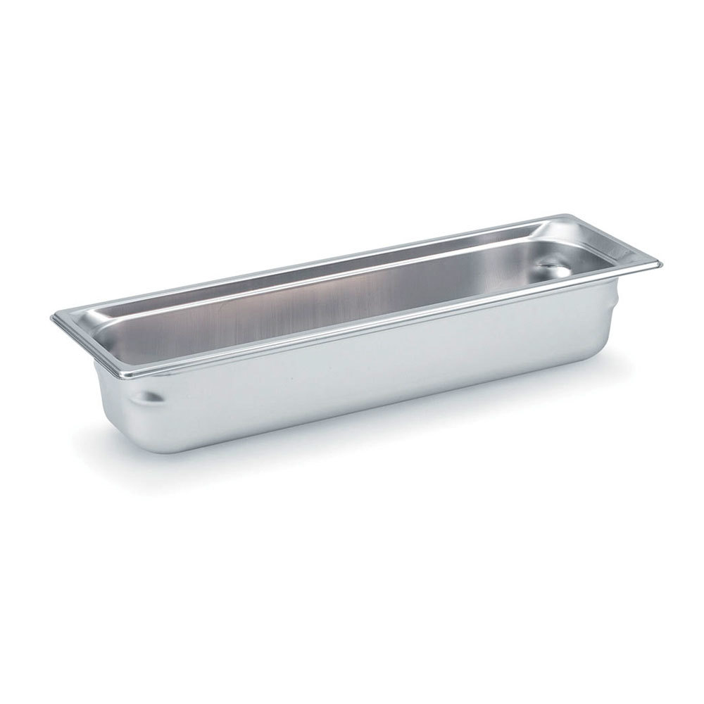 Vollrath 90542 Super Pan 3 Stainless Steel 1/2 Size Long Anti-Jam Steam Table Pan - 4 inch Deep