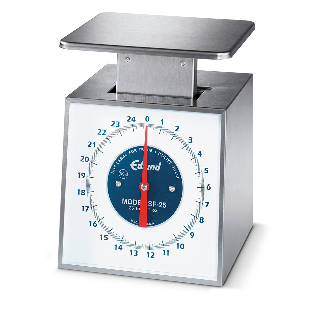 Edlund SF-25 Stainless Steel 25 lb. Portion Control Scale