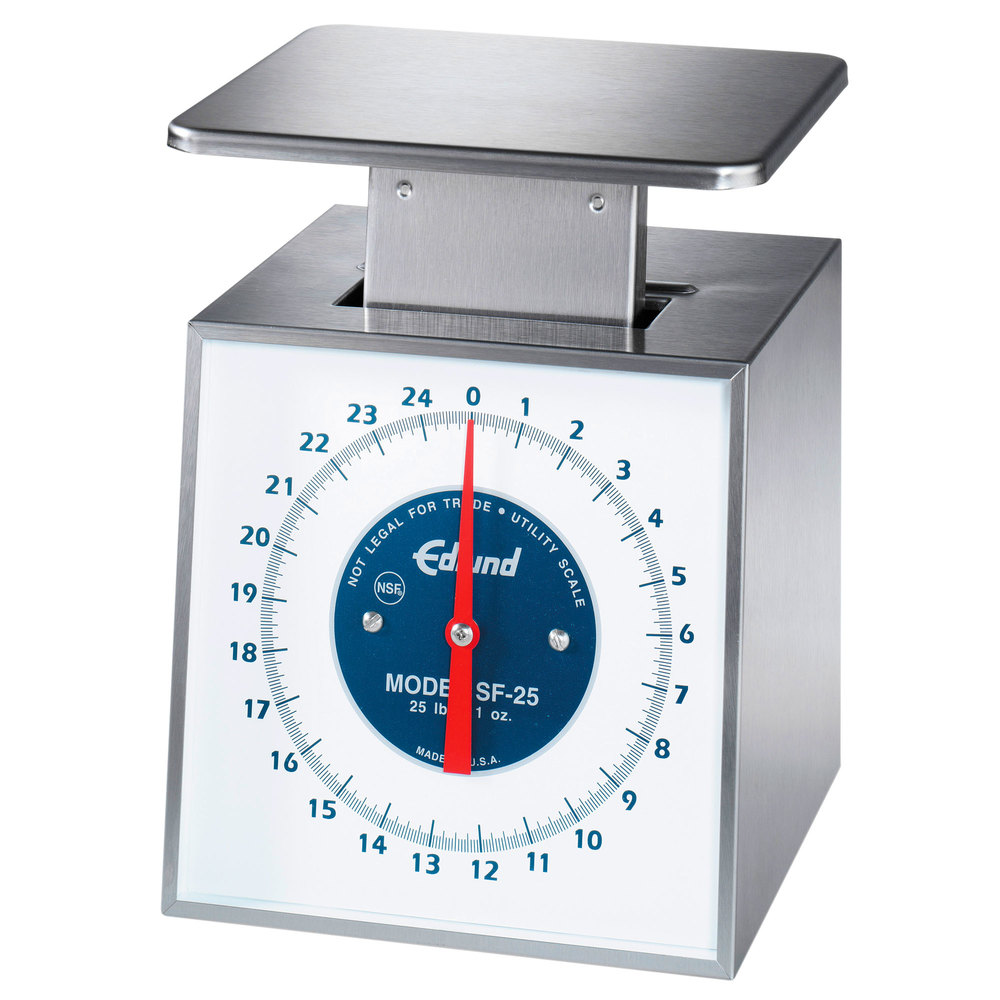 "Edlund SF-25 Premier Series 25 lb. Portion Scale with 6"" x 6 3/4"" Platform"