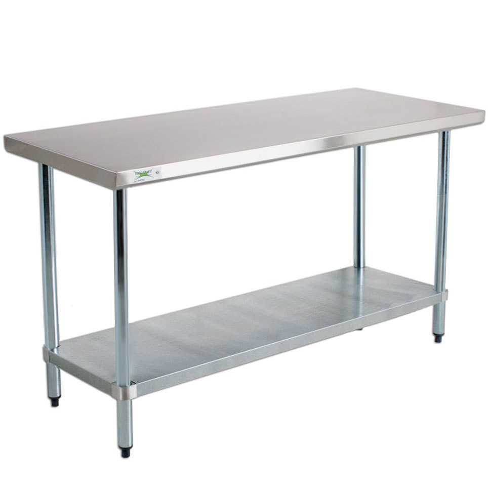Regency 18 Gauge 304 Stainless Steel Commercial Work Table - 24 inch x 60 inch with Undershelf