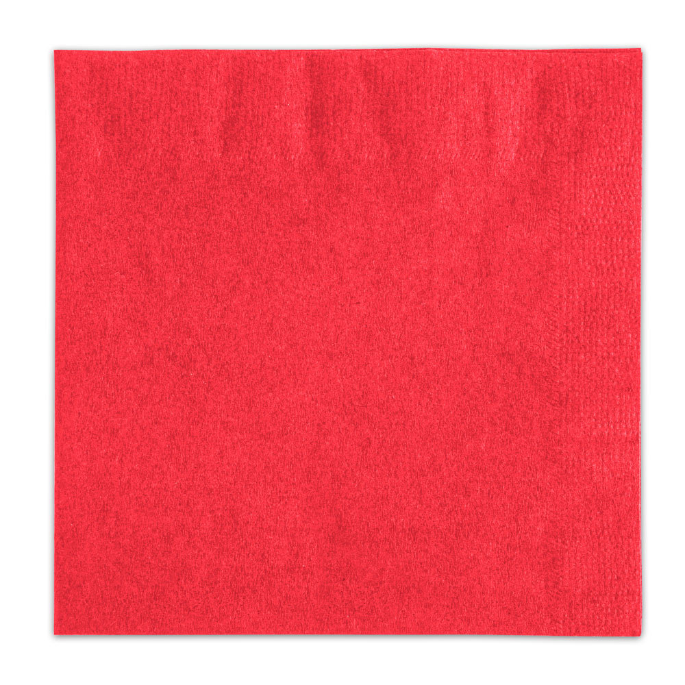 Choice Red Beverage / Cocktail Napkin - 1000 / Case