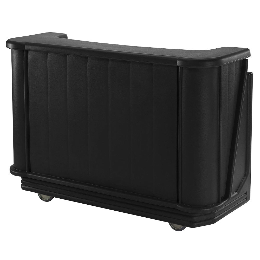 "Cambro BAR650PM110 Black Cambar 67"" Portable Bar with 7-Bottle Speed Rail and Complete Post Mix System"