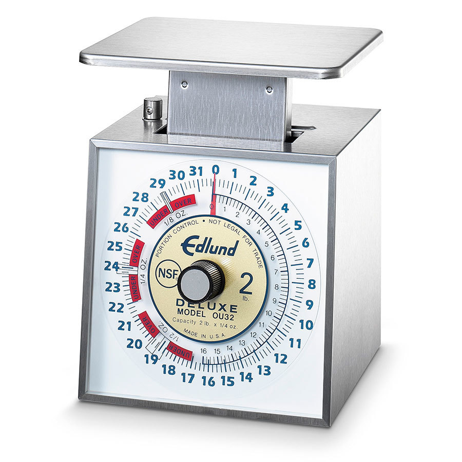 Edlund OU-32P Deluxe 32 oz. Over / Under Portion Control Scale with 6 inch x 6 3/4 inch Platform