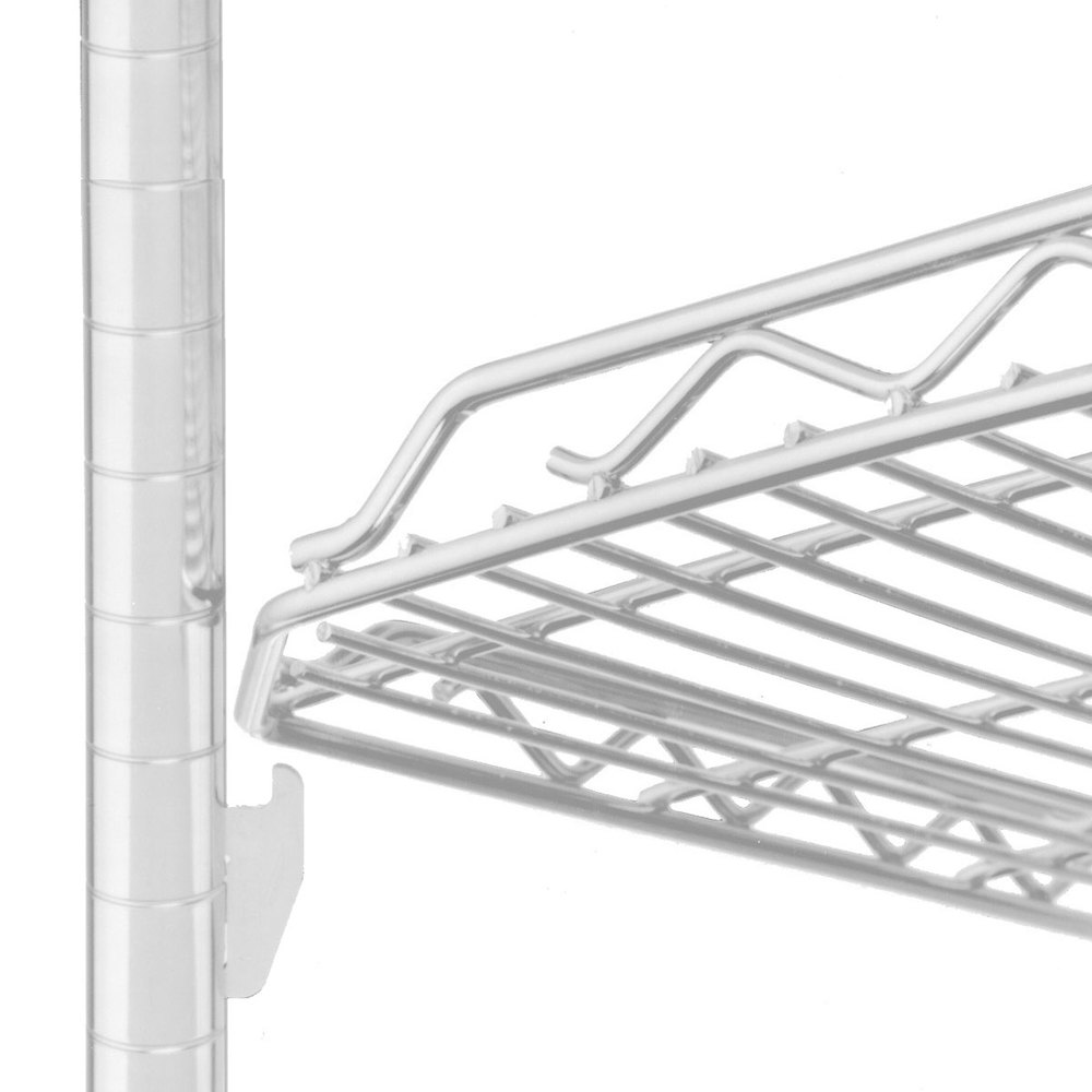 "Metro HDM1848QW qwikSLOT Drop Mat White Wire Shelf - 18"" x 48"""