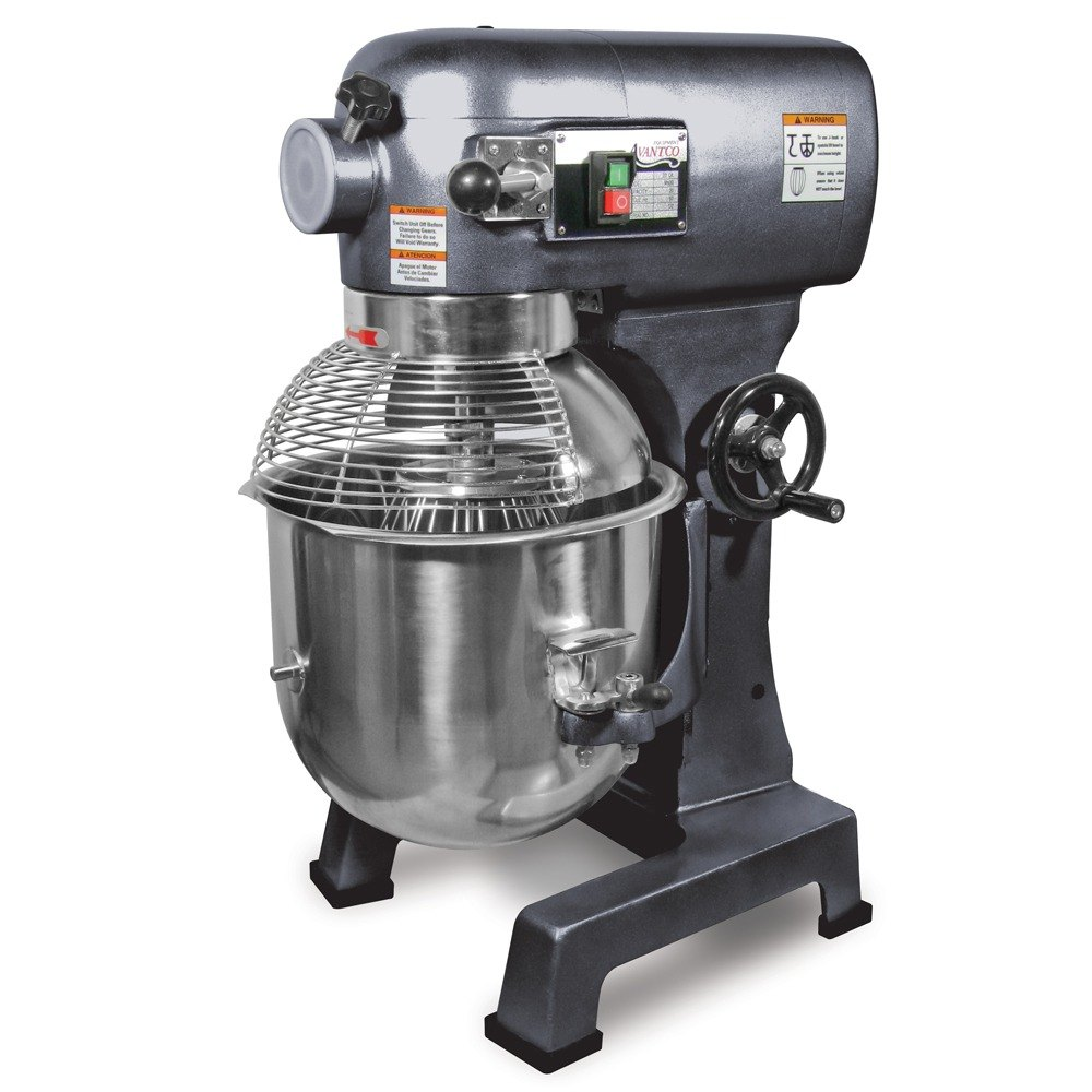Avantco MX20 Gear Driven 20 Qt. Commercial Planetary Mixer with Guard - 110V