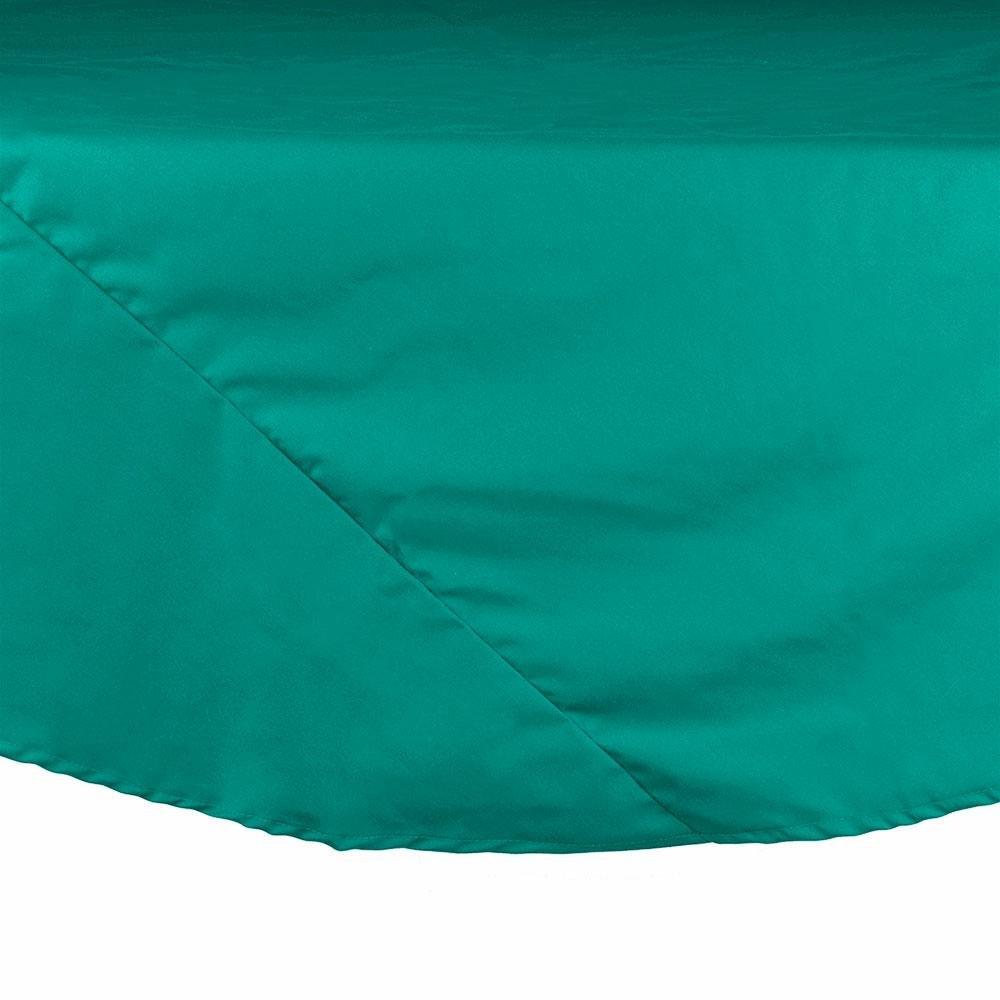 132 Quot Teal Round Hemmed Polyspun Tablecloth