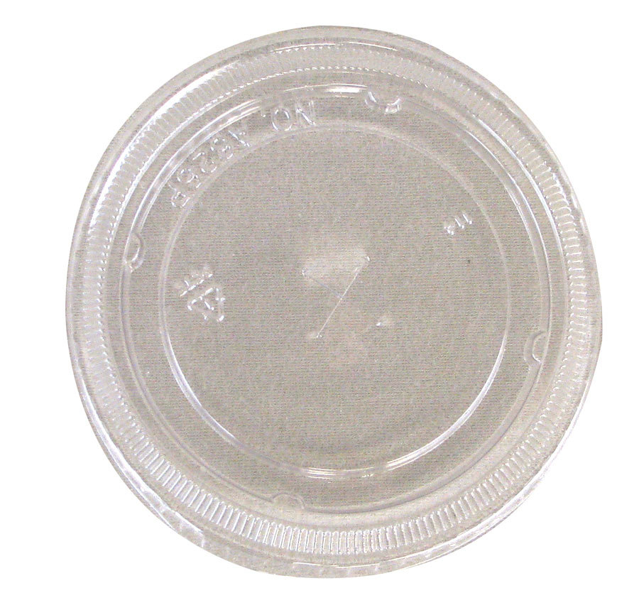 Dart Conex L24C Clear Plastic Lid with Straw Slot 1000/Case