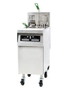 Frymaster 240V Single Phase Frymaster RE17-2BL-SD 50 lb. Split Pot High Efficiency Electric Floor Fryer with Basket Lifts - 17 KW at Sears.com