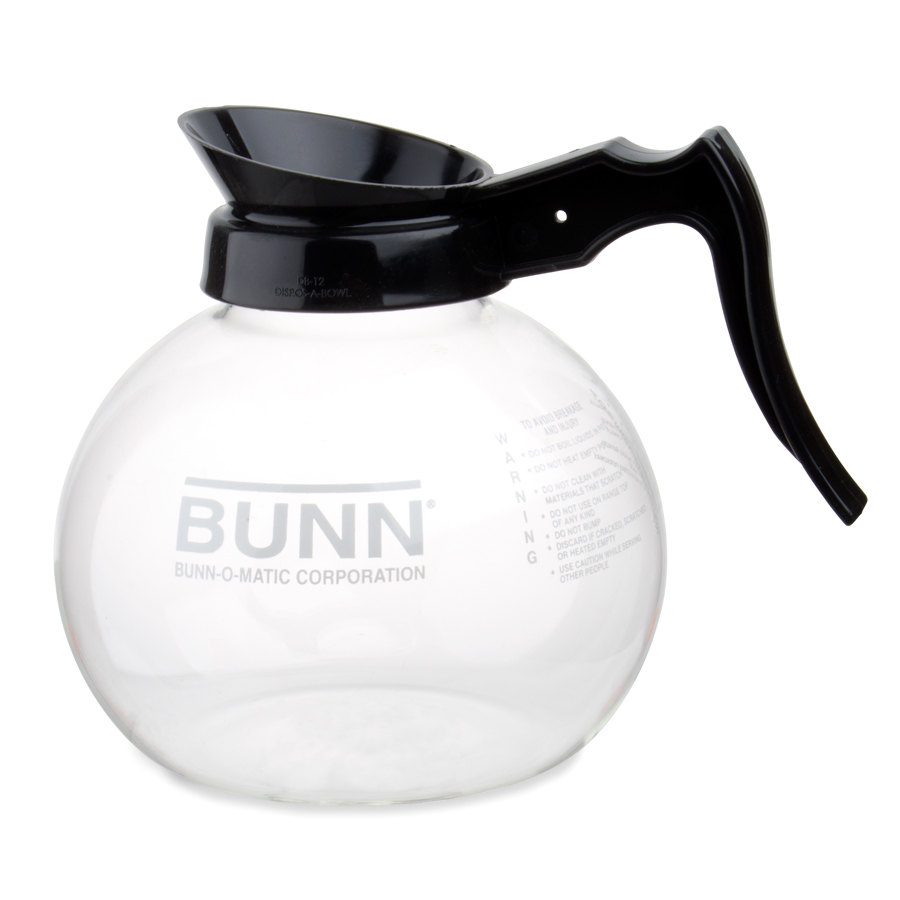 Bunn 42400.0024 Glass Coffee Decanter with Black Handle - 64 oz.