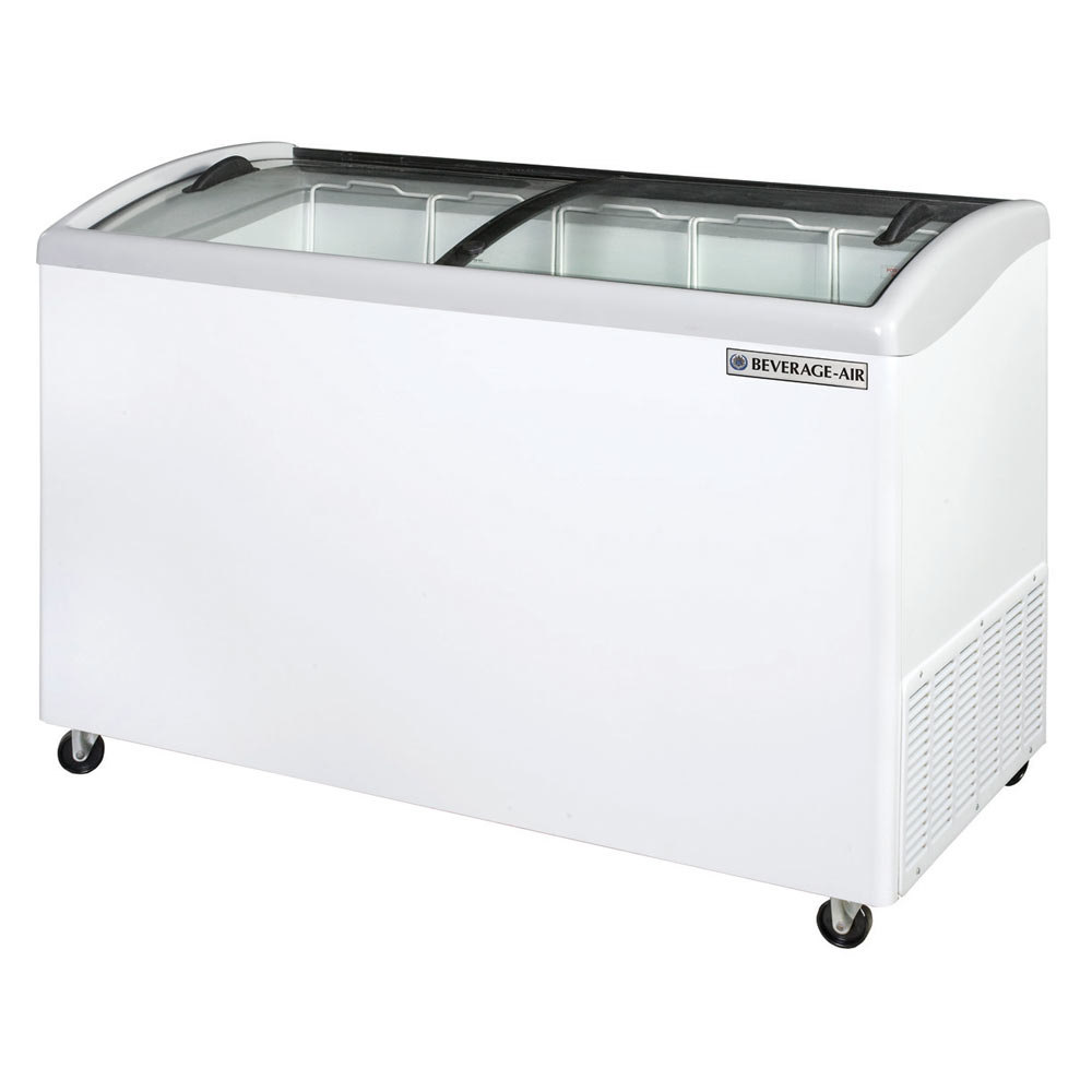 Beverage Air NC51-1-W Curved Lid Display Freezer / Novelty Case - 10.9 cu. ft.