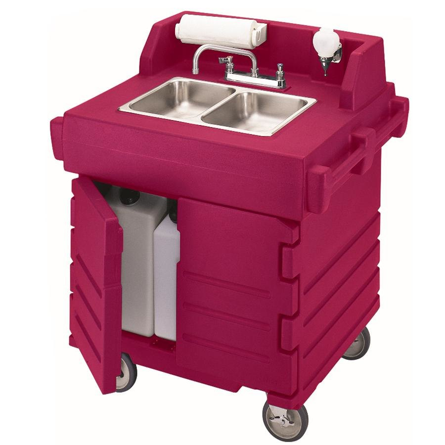 Cambro KSC402158 Hot Red CamKiosk Portable Self-Containe