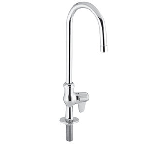 "Equip by T&S 5F-1SLX05 Single Supply Deck Mount Faucet with 5 1/2"" Swivel Gooseneck - ADA Compliant"